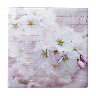 Sakura Cherry Blossom Small Square Tile