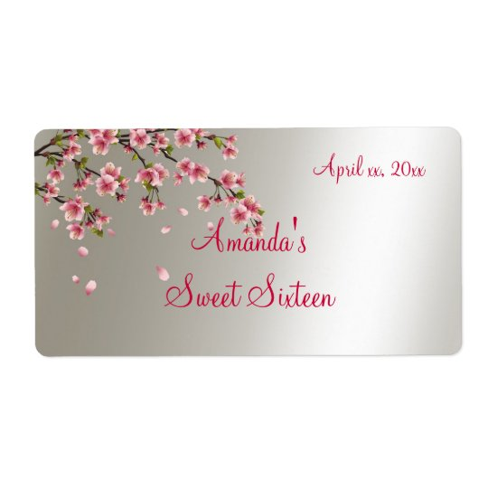 Sakura, Cherry Blossom Sweet Sixteen Label