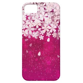 Sakura Cherry Blossoms Fuchsia & White Flowers iPhone 5 Case