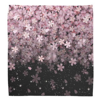 Sakura Cherry Blossoms Pink & Black Flowers Do-rag