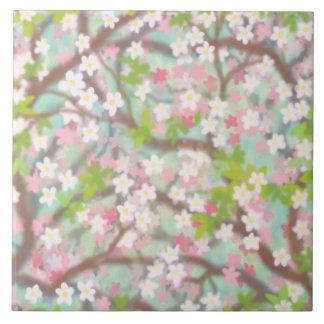 Sakura Cherry Blossoms Tile