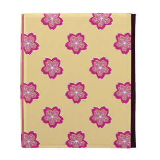 Sakura Floral Batik Blossoms iPad Folio iPad Folio Case