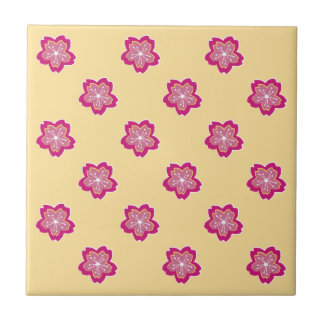 Sakura Floral Batik Blossoms Tile