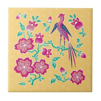 Sakura Floral Batik Tile
