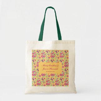 Sakura Floral Batik Wedding Tote Bag