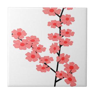Sakura Flower Clipart Ceramic Tile