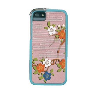 Sakura flowers and mist japanese pattern iPhone 5 cases