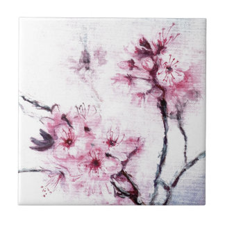 Sakura II Small Square Tile