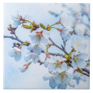 Sakura - Japanese Cherry Blossom Large Square Tile