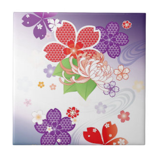 Sakura Kiomono - Japanese Design Tiles