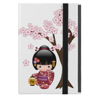 Sakura Kokeshi Doll - Cute Japanese Geisha Girl Cover For iPad Mini