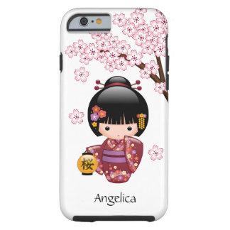 Sakura Kokeshi Doll - Cute Japanese Geisha Girl Tough iPhone 6 Case
