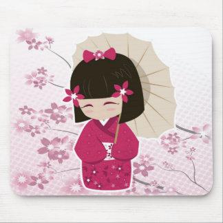 Sakura Kokeshi Doll Mouse Mat