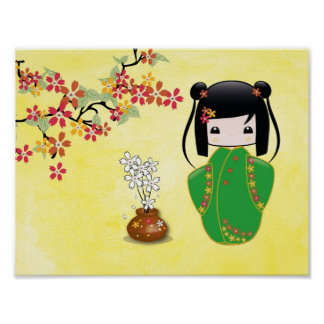 Sakura Kokeshi Doll, Poster