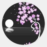 Sakura of the Night Round Stickers