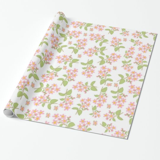 Sakura Pink Cherry Blossoms Gift Wrap Wrapping Paper