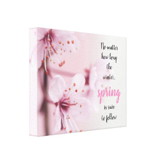 Sakura // Spring is sure to follow Canvas Print