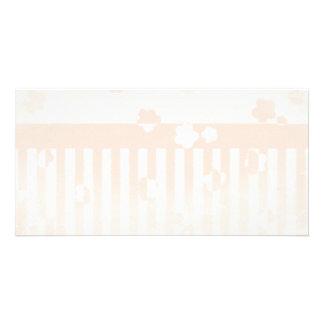 Sakura Stripes Personalised Photo Card