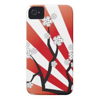 Sakura Sunrise White Cherry Blossoms Flowers Zen iPhone 4 Cases