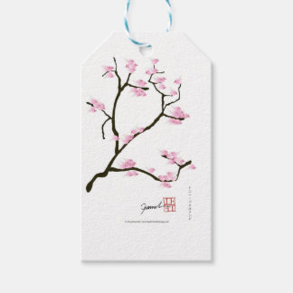 sakura tree and birds tony fernandes gift tags