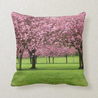 Sakura Trees Throw Pillow