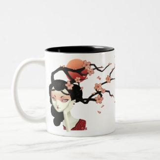 Sakura Two-Tone Coffee Mug