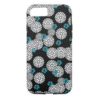 Sakura white black blue iPhone 7 case skin
