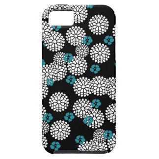Sakura white black blue iPhone case skin