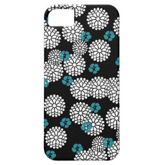 Sakura white black blue japanese floral mums girly iPhone 5 covers