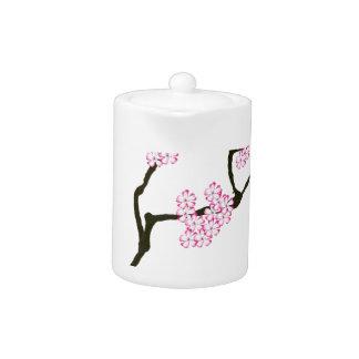 sakura with green bird, tony fernandes