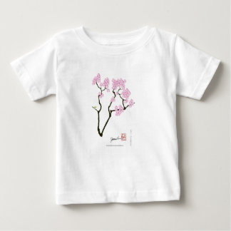 sakura with green bird, tony fernandes baby T-Shirt
