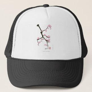 sakura with pink birds by tony fernandes trucker hat