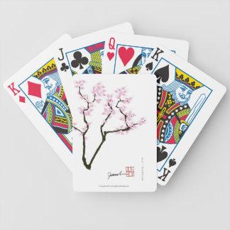 sakura with pink goldfish, tony fernandes bicycle playing cards