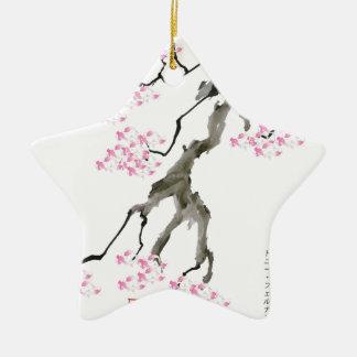 sakura with pink goldfish, tony fernandes christmas ornament