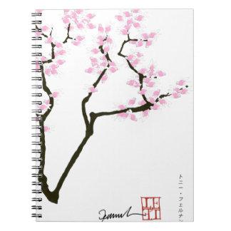 sakura with pink goldfish, tony fernandes notebooks