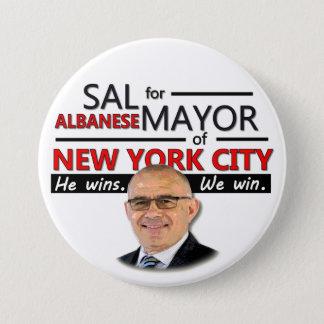Sal Albanese NYC Mayor 2013 7.5 Cm Round Badge