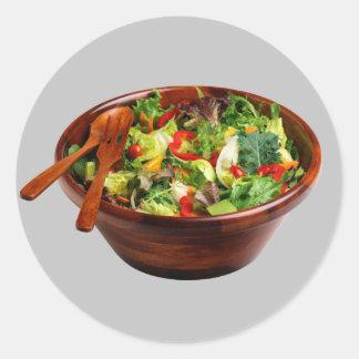 Salad Bowl Round Sticker
