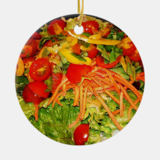 Salad Brite Round Ceramic Decoration