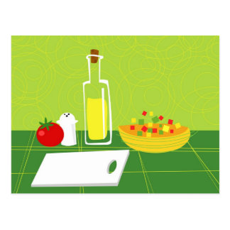 Salad Postcard