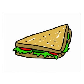 Salad Sandwich Postcard