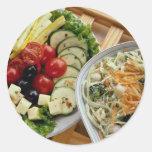 Salads dining alfresco round sticker