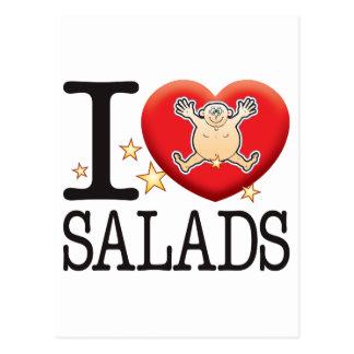 Salads Love Man Postcard