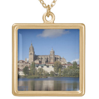 Salamanca Cathedrals and town 2 Gold Plated Necklace