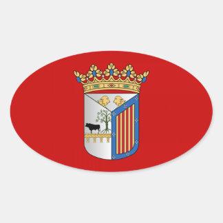 Salamanca (Spain) Flag Stickers