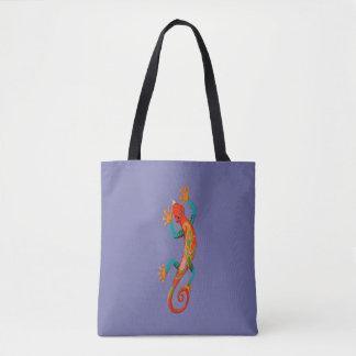 Salamander Fashion Tote Bag-Red/Orange/Green/Blue