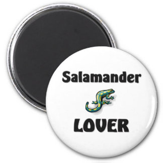 Salamander Lover 6 Cm Round Magnet