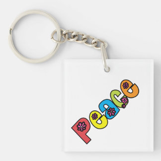 SALE! 1960 Hippies / Peace 2-Sided Keychain