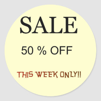 Sale 50 0ff Sticker