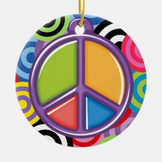SALE! - A Peaceful Theme - Peace Sign Round Ceramic Decoration