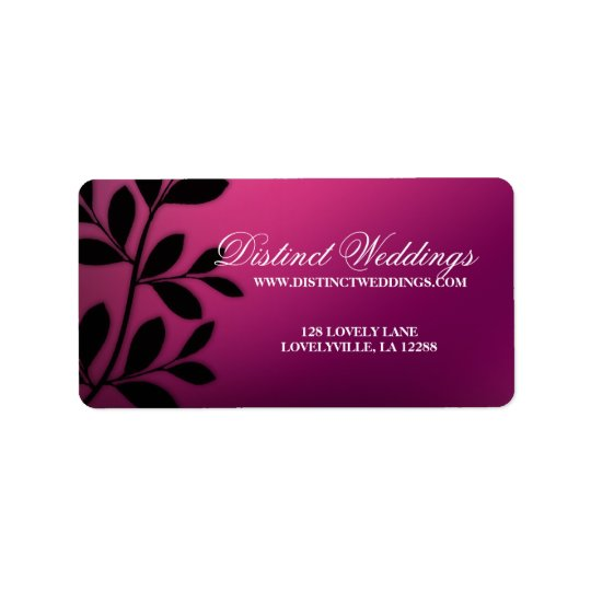 SALE! Elegant Wedding Label Leaves Pink Purple Address Label